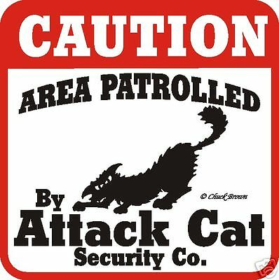 Cat Attack Signs More Attack Signs Available