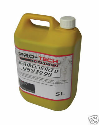 Double Boiled Linseed Oil - 5 Litres Traditional Wood Treatment Seal Bare Wood