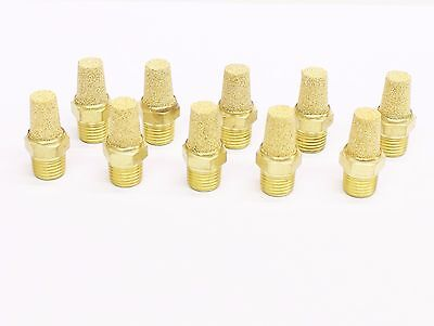 "10pc PNEUMATIC CONE MUFFLER Sintered Bronze 1/8"" NPT MettleAir BSL-N01"