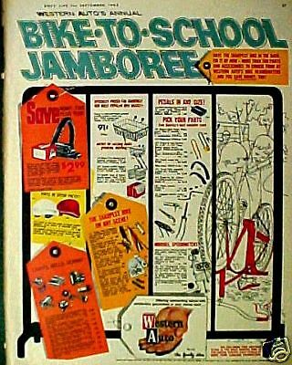 1963 Western Auto Bicycle~Bike Accessories~Parts Ect AD