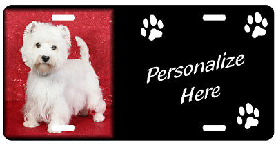 West  Highland  White Terrier westie  #2   Personalized  License  plate