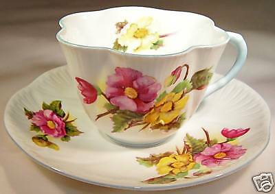 Shelley England Fine Bone China  Begonia Dainty Cup & Saucer Set!