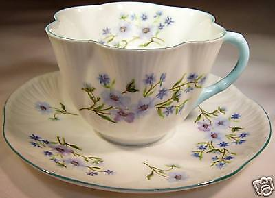 Shelley Blue Rock Dainty Cup & Saucer Set!