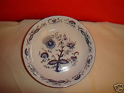 House Of Prill Decorative Bowl, Blue Onion Design, Nice, White