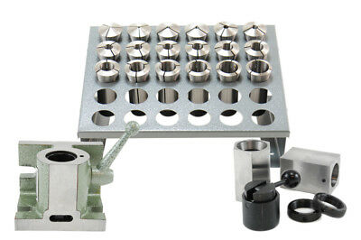 25 Pcs 5C Collet Set With 5C Block, Collets & Fixture