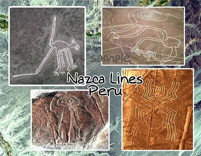 Peru - NAZCA LINES - Travel Souvenir Flexible Fridge Magnet