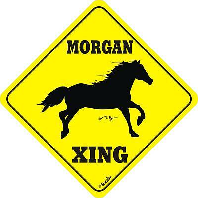 Morgan Horse Xing Sign