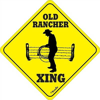 Old Rancher Xing Sign