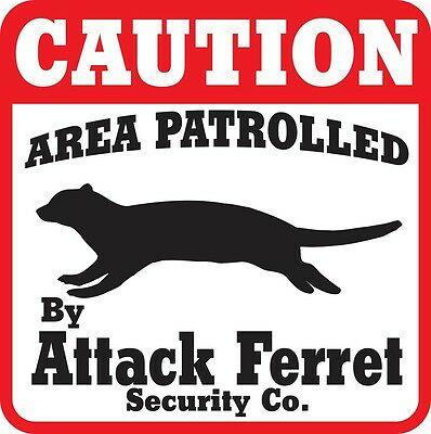 Caution Attack Ferret Sign