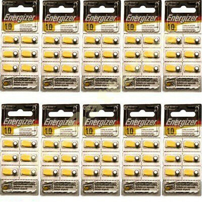 60 x ENERGIZER A10 10 ZA10 YELLOW Hearing Aid Batteries
