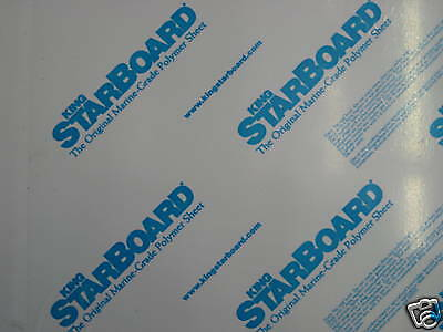 "1/4"" X 24"" X 54""  White King Starboard Polymer Hdpe Marine Board Free Shipping"