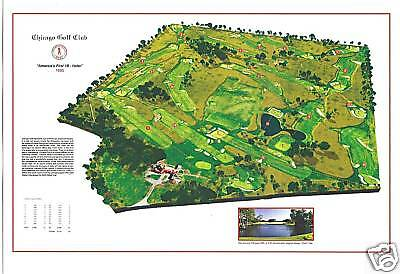 "Chicago Golf Club - 1892 - C.B.MacDonald ""Far & Sure"" a VintageGolfCourseMap"