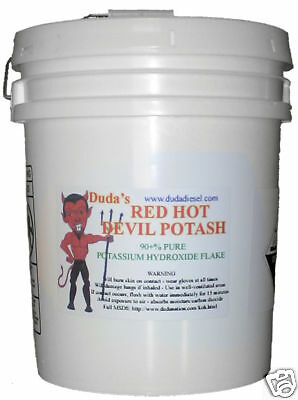 45 # Potassium Hydroxide Red Hot Devil Potash Biodiesel