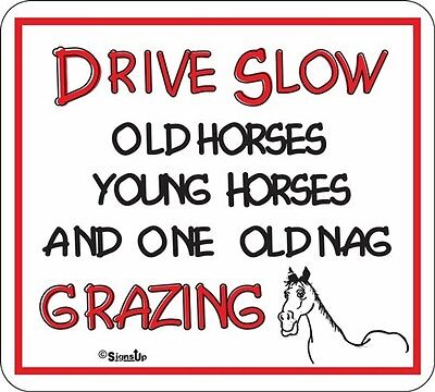 Drive Slow Old Horse/ Nag Novelty Sign
