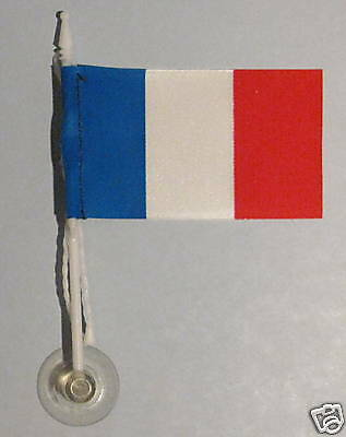 France MiniPole Car / Window Flag NEW