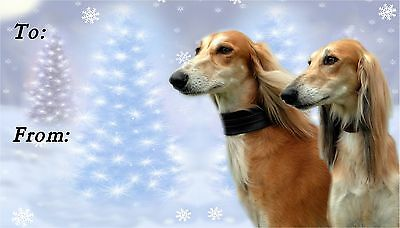 Saluki Christmas Labels by Starprint - No 1