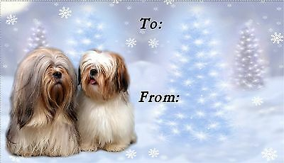 Lhasa Apso Christmas Labels by Starprint