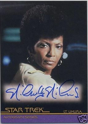 Star Trek Movies In Motion A60 Nichelle Nichols Uhura Autograph Very Limited