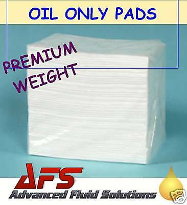 100 x OIL & FUEL ONLY SPILL ABSORBENT PADS WORKSHOP KIT