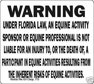 Florida Equine Signs