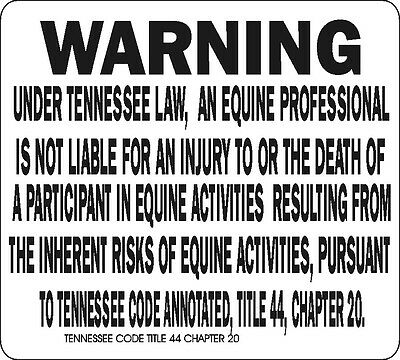 Tennessee Equine Signs Many More Signs Available
