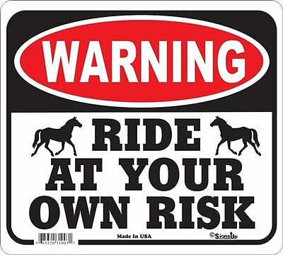 Ride At Your Own Risk Signs Many More Signs Available