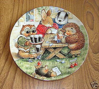 Royal Doulton Plate, Country Companions - CHEERS!
