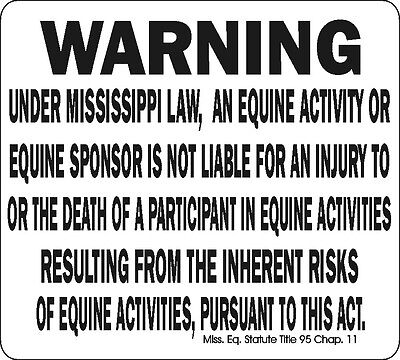 Mississippi Equine Signs Many More Signs Available