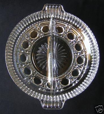 Federal/ Indiana Glass Windsor Divided Relish Dish