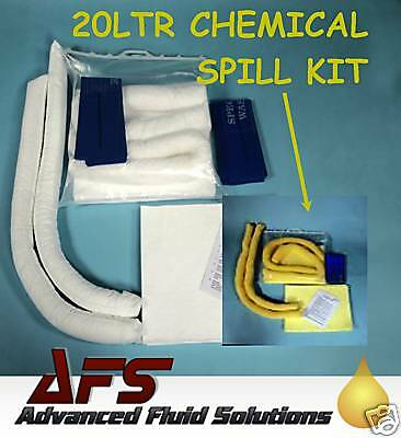 20 Ltr CHEMICAL EMERGENCY RESPONSE SPILL KIT Oil Fluid