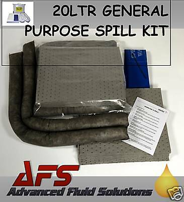 20 Ltr GENERAL PURPOSE EMERGENCY SPILL KIT OIL FLUID ++