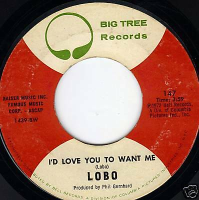 """Lobo 45 """"I'd Love You To Want Me/Am I True To Myself"""""""