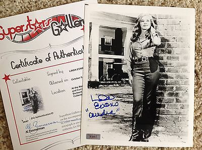 LINDA EVANS In-Person Signed 8X10 Photo - SuperStars Gallery (SSG) COA - PROOF