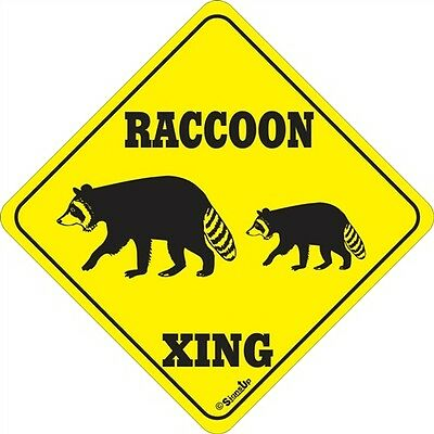 Raccoon Xing Sign