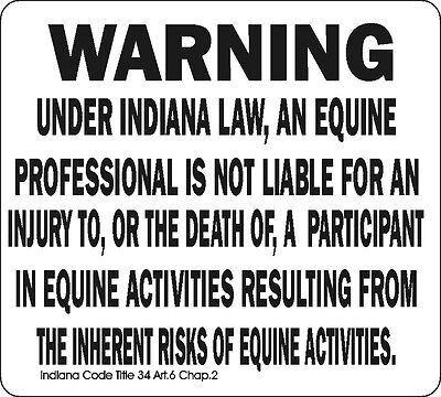 Indiana Equine Signs Many More Signs Available