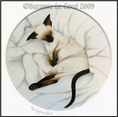 Ltd Edit. Siamese Cat Kitten Print From Original Painting By Suzanne Le Good