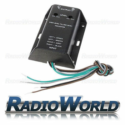 High Level Speaker to Low Level RCA Converter 2 Channel