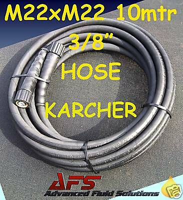 10 M High Pressure Washer Hose 3/8 R1 Power Jet Wash Cleaner M22 Female Karcher
