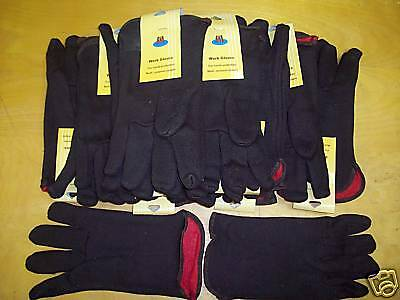 Brown Insulated / Lined Jersey Gloves 12 Pair