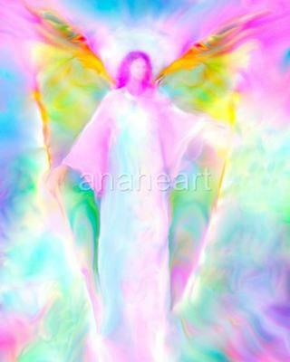 ARCHANGEL GABRIEL PICTURE Spiritual Angel Art Energy Painting by Glenyss Bourne