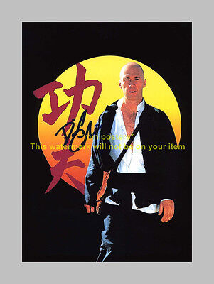 """Kung Fu Signed Pp Poster 12""""x8"""" David Carradine (Caine)"""