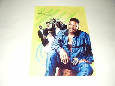 """Fresh Prince Bel-Air Pp Signed Poster 12""""x8"""" Will Smith"""