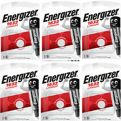 6 x ENERGIZER 1632 Lithium 3V Batteries CR1632 FREE UK