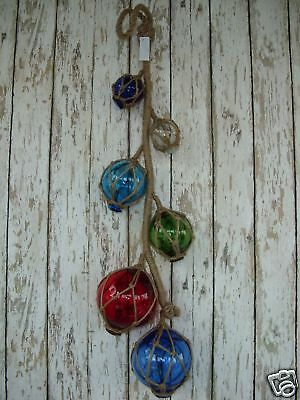 (6) Glass Fishing Floats - Nautical Fish Net Decor Luau