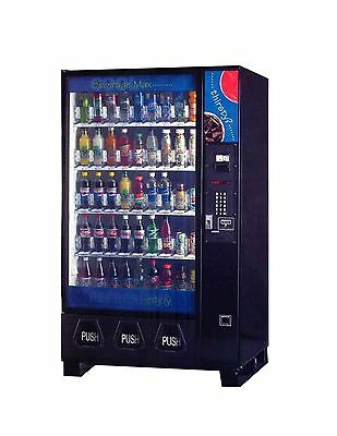 Dixie Narco Bev Max glass front drink vending machine
