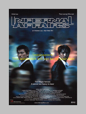 """Infernal Affairs Pp Signed 12""""x8"""" Poster Andy Lau"""