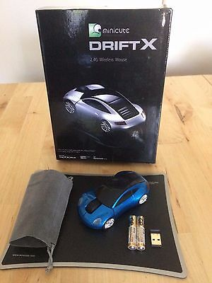 WHOLESALE - CAR MOUSE DRIFTX - X9 - Silver & Blue + mouse pad & carry bag
