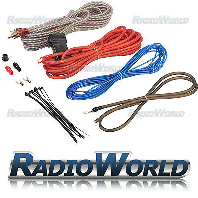 1000W Complete Amplifier/AMP Wiring Kit 10 Gauge AWG