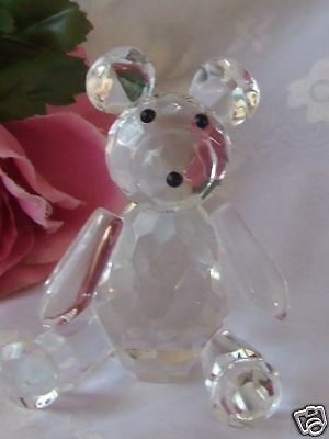Clear Crystal Teddy Bear-Ctbc