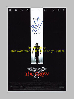 "The Crow Pp Signed Poster 12""x8"" Brandon Lee N2"